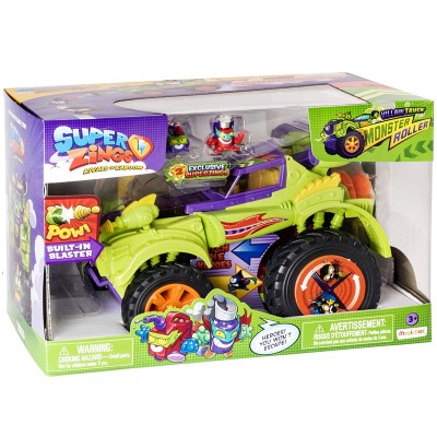 SUPER ZINGS POJAZD ZESTAW MONSTER ROLLER + 2 FIGURKI